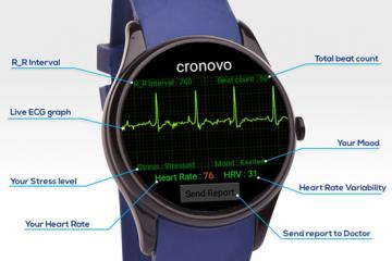Cronovo EKG Smartwatch Works with iOS / Android Devices