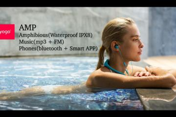 TAYOGO AMP Waterproof Bluetooth Headphones & Music Player