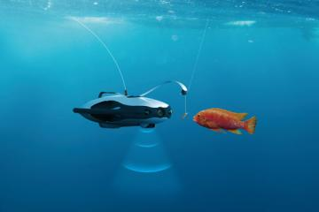 PowerRay Underwater Fishfinder Robot with FPV Goggles