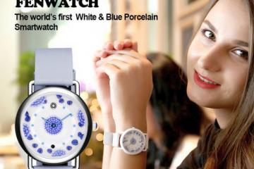 FENWATCH White & Blue Porcelain Smartwatch