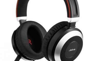 Jabra Evolve 80 Headphones with Active Noise Cancellation