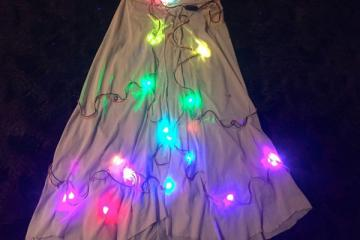 Sparkle Skirt with Light, Sound, Motion Sensor