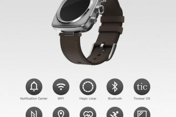 Hagic Smartwatch: Customizable Watch with GPS, WiFi, NFC