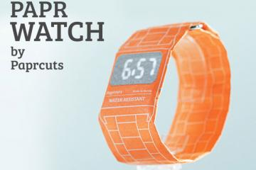 PAPR WATCH Looks Like a Paper Wristband