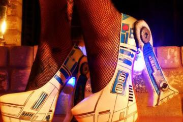 R2D2 LED Shoes for Star Wars Fans