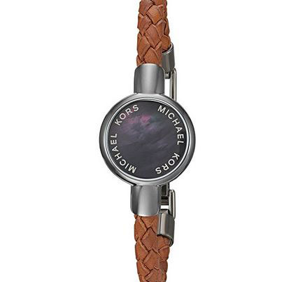 michael kors crosby leather tracker bracelet cool wearable. Black Bedroom Furniture Sets. Home Design Ideas