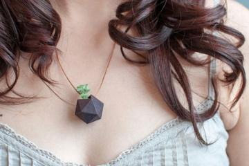 3D Printed Icosahedron Wearable Planter