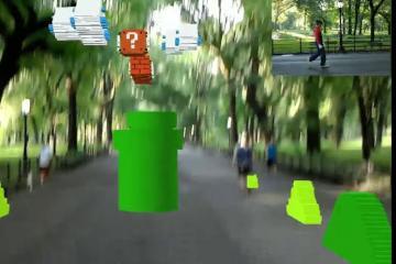 Playing AR Super Mario Bros on HoloLens