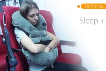 Sleep+ Warm, Safe Travel Pillow
