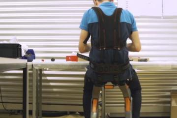 Chairless Chair: Wearable Seat for Workers