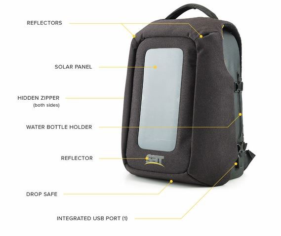 Numi Smart Backpack With Solar Panel Cool Wearable