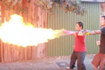 DIY: Punch Activated Arm Flamethrowers