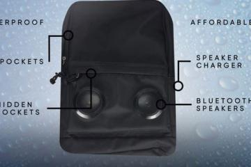 Aeris Waterproof Backpack with Bluetooth Speakers
