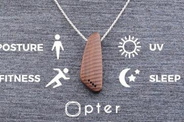 Pose: Smart Necklace by Opter Tracks Posture, UV, Blue Light, Fitness