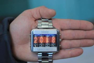 Nixie Tube Titanium Watch