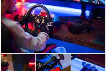 Feel VR Drive Racing Wheel with Pedals for Gamers