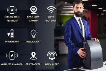 Lumzag Smart Bag with GPS, WiFi Hotspot, Backup Camera