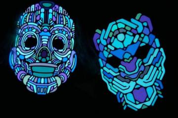 Outline Sound-Reactive LED Mask