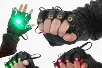 Laser Gloves for Dance Parties