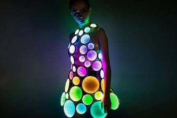 Infinity Mirror LED Light Up Dress