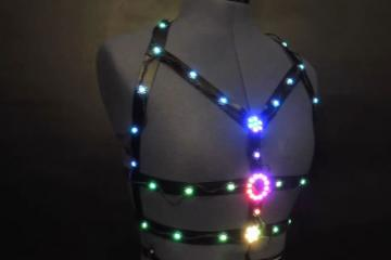 DIY: LED Harness Bra with NeoPixels & Circuit Playground Express.