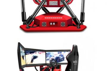 WCG VR Racing Simulator with 3 Displays