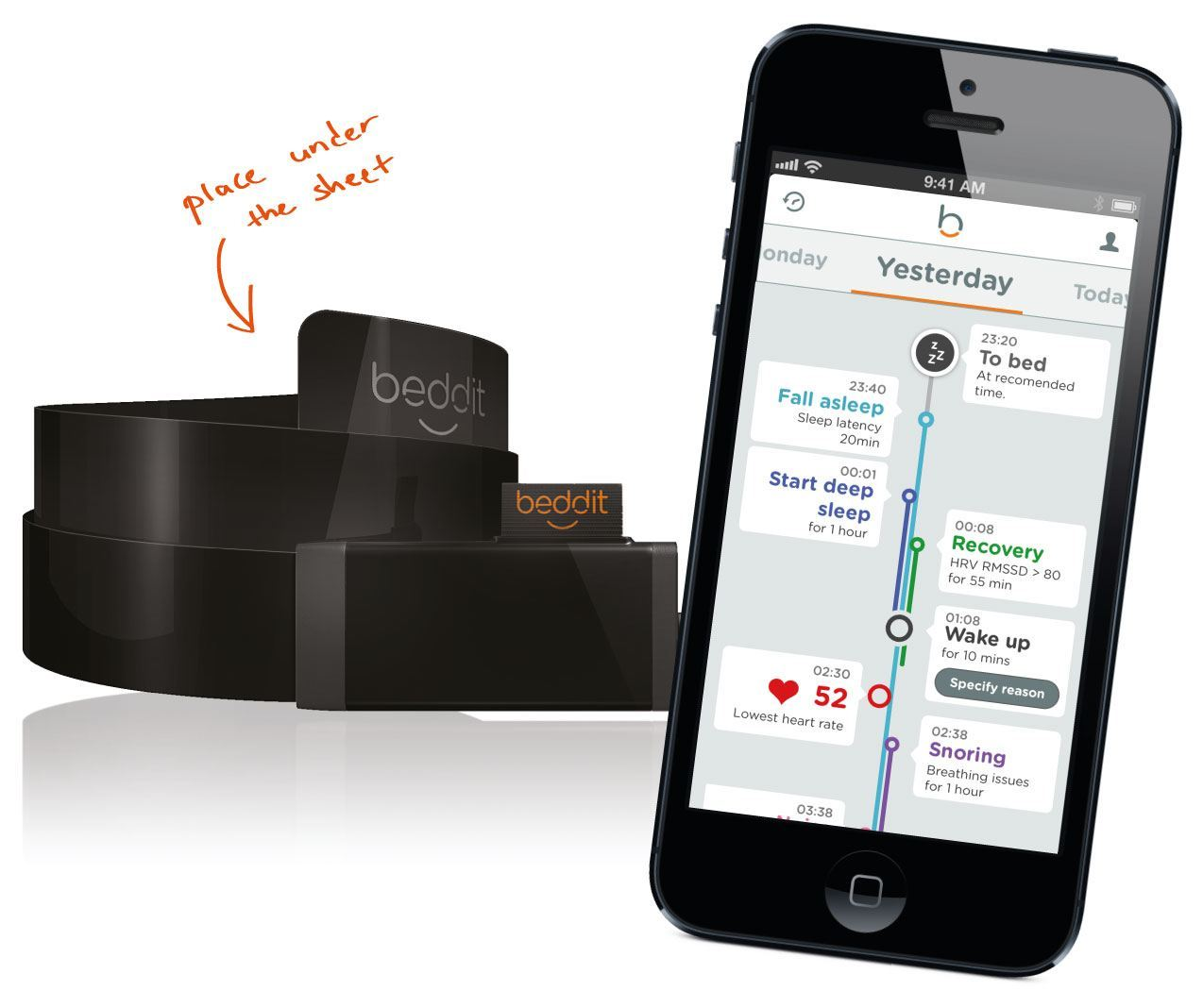 Beddit for a Smarter Bed – Automatic Sleep & Wellness Tracker