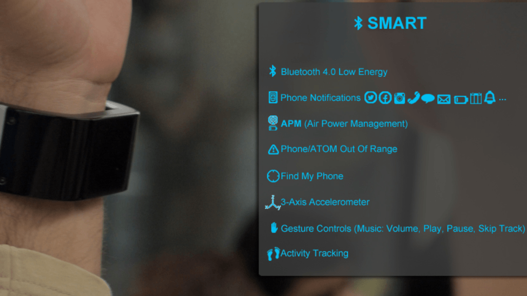 ATOM: Wearable Device Recharges Your Smartphone