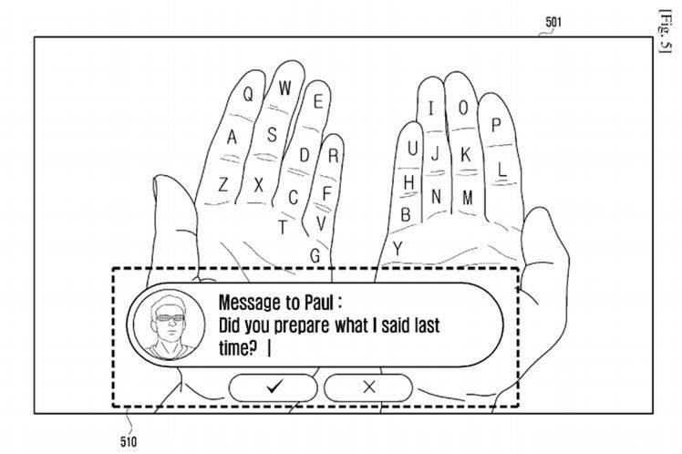 Samsung 'Galaxy Glass': Augmented Reality Keyboard?