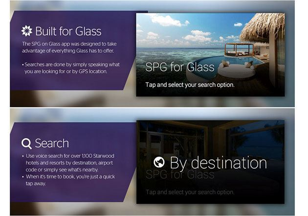 Find Hotels Starwood's app for Google Glass