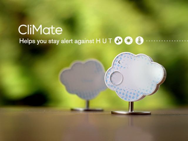 CliMate: Bluetooth Wearable Tracks Humidity, UVI, Temperature