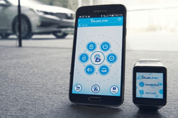 HYUNDAI Blue Link Smartwatch App Looked