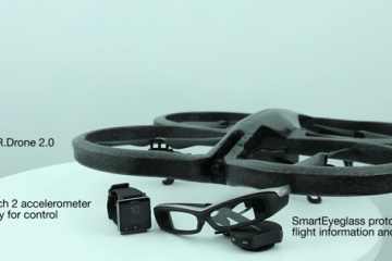 Parrot AR.Drone 2.0 Controlled by Smartwatch 2 & SmartEyeglass
