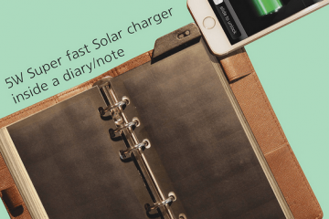Solar Page Solar Smartphone Charger for Your Binder