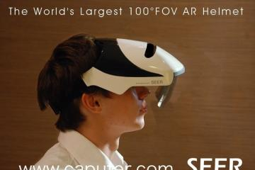 SEER: Augmented Reality Helmet with 100° Field of View