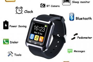 5IVE U80 Smart Wrist Wrap Watch Phone