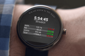 Wear Stock Ticker Watchface for Android Wear