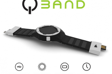 QBAND: Wearable Solar Charger for Phones & Watches