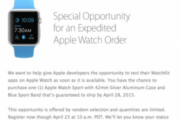 Expedited Apple Watch Order Available To Developers?