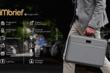 iMbrief Briefcase w/ Charger, GPS, Security, and Light