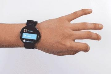 Aria: Control Your Smartwatch With Finger Gestures
