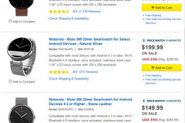 Moto 360 – $100 Off On Best Buy
