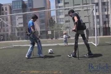 Berkeley Exoskeleton Lets Persons with Spinal Cord Injury Play Soccer