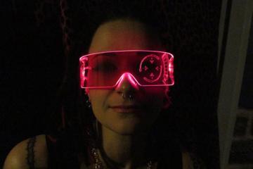 Illuminated Cyber Iron Man J.A.R.V.I.S. Shades
