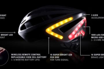 Lumos: Smart Helmet w/ Accelerometer, Turn Signals, Brake Lights