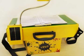 YELO: Solar Powered Bag + Desk Made Out of Recyclable Plastic