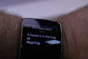 RaspiTrap: Smart Mouse Trap w/ Smartwatch Notifications
