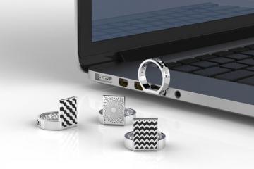 D-Ring: 3D Printed Titanium USB Ring