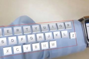 ARmKeypad: Augmented Reality Keyboard On Your Arm