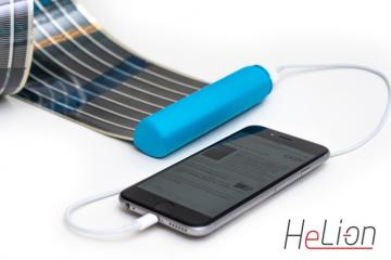 HeLi-on: Rollable Solar Charger + Battery for Your Gadgets